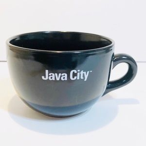 JAVA CITY Jumbo Size Black Coffee Mug/ Tea Cup